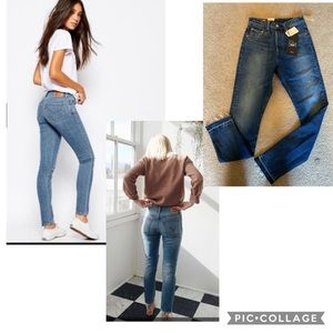 New Levi's 501 high waist skinny jeans